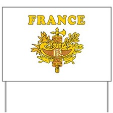 France Coat Of Arms Designs Yard Sign