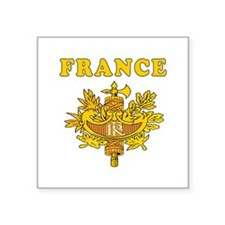 "France Coat Of Arms Designs Square Sticker 3"" x 3"""