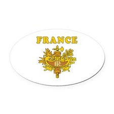 France Coat Of Arms Designs Oval Car Magnet