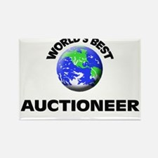 World's Best Auctioneer Rectangle Magnet