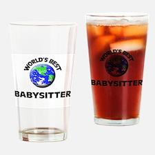 World's Best Babysitter Drinking Glass