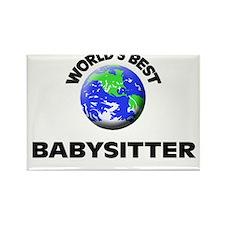 World's Best Babysitter Rectangle Magnet
