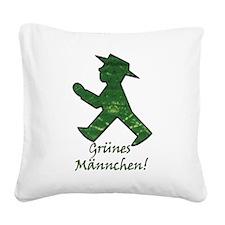 Grunes Mannchen! Berlin Walking Man! Square Canvas