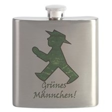 Grunes Mannchen! Berlin Walking Man! Flask