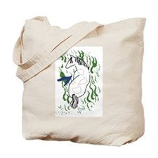 Tote Bag-Grazing Horse