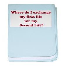Exchange Lives? baby blanket