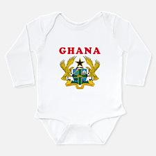 Ghana Coat Of Arms Designs Long Sleeve Infant Body