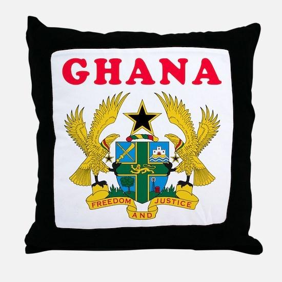 Ghana Coat Of Arms Designs Throw Pillow