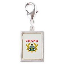Ghana Coat Of Arms Designs Silver Portrait Charm
