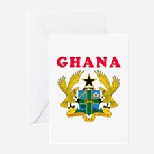 Ghana Coat Of Arms Designs Greeting Card