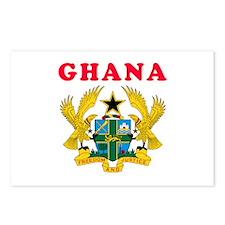 Ghana Coat Of Arms Designs Postcards (Package of 8