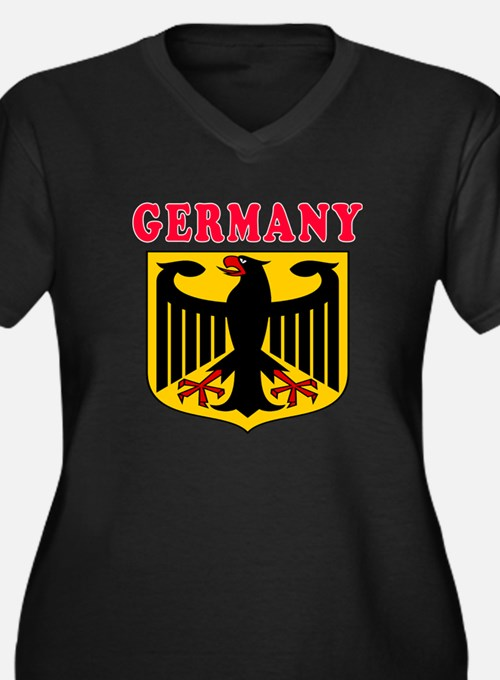Germany Coat Of Arms Designs Women's Plus Size V-N