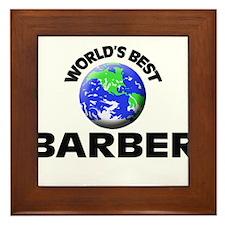 World's Best Barber Framed Tile