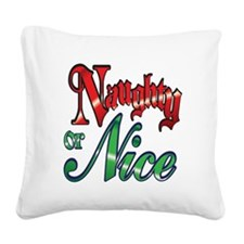 Christmas Naughty or Nice Cartoon Letters Words Sq