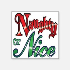 Christmas Naughty or Nice Cartoon Letters Words St