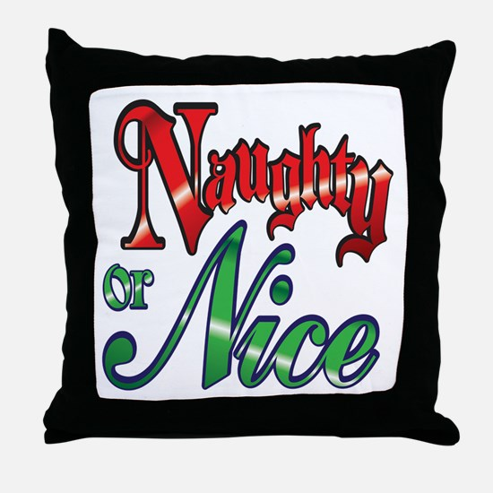 Christmas Naughty or Nice Cartoon Letters Words Th