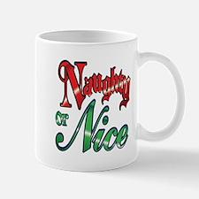 Christmas Naughty or Nice Cartoon Letters Words Mu