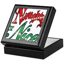 Christmas Naughty or Nice Cartoon Letters Words Ke