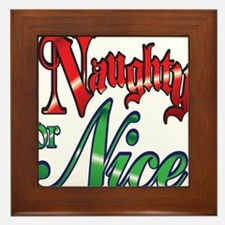 Christmas Naughty or Nice Cartoon Letters Words Fr