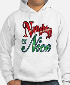 Christmas Naughty or Nice Cartoon Letters Words Ho