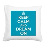 Keep calm and carrie on Square Canvas Pillows
