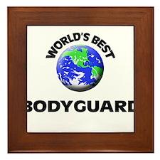 World's Best Bodyguard Framed Tile