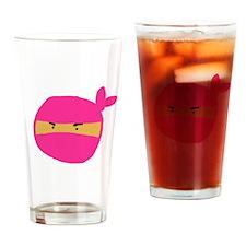 Pink Ninja Drinking Glass