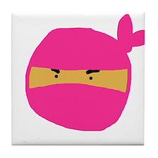 Pink Ninja Tile Coaster