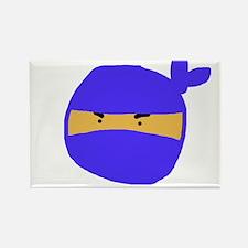 Blue Ninja Sketch Rectangle Magnet