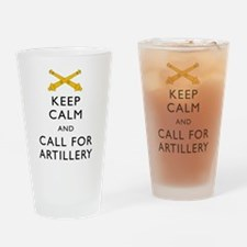 Keep Calm Call for Artillery Drinking Glass