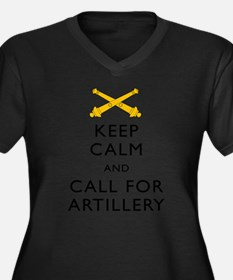 Keep Calm Call for Artillery Plus Size T-Shirt