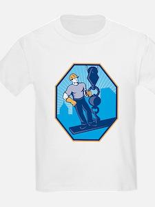 Construction Worker I-Beam Girder Ball Hook T-Shir