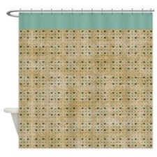 Brown & Green Hearts P1 Shower Curtain