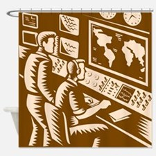 Control Room Command Center Headquarter Woodcut Sh