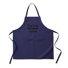 THIS IS MY RETIREMENT UNIFORM Apron (dark)