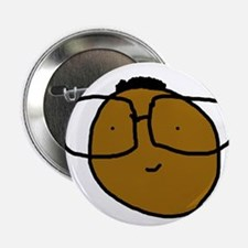 """Cute Nerd with Glasses 2.25"""" Button"""