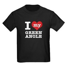 I heart Green Anole designs T