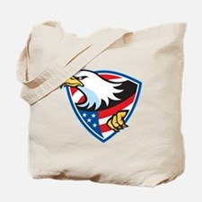 American Bald Eagle Flag Shield Tote Bag