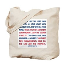 The Greatest Commandment Tote Bag