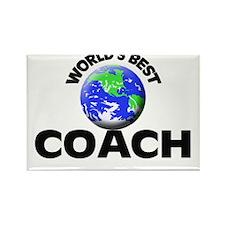 World's Best Coach Rectangle Magnet