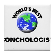World's Best Conchologist Tile Coaster
