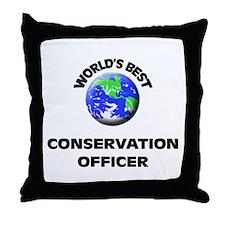 World's Best Conservation Officer Throw Pillow