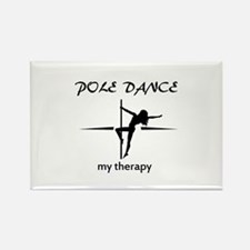 Pole Dancing my therapy Rectangle Magnet