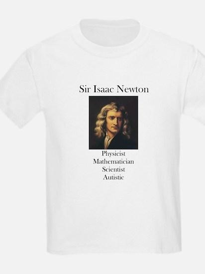 Autistic Isaac Newton  Kids T-Shirt