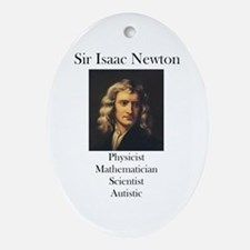 Autistic Isaac Newton  Oval Ornament