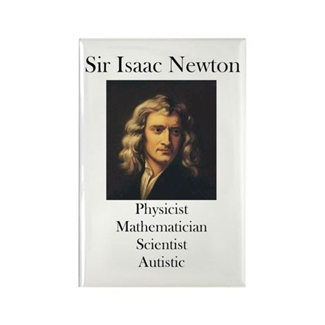 Autistic Isaac Newton Rectangle Magnet (10 pack)