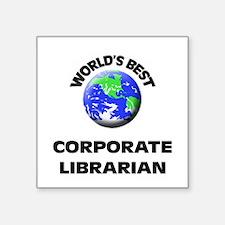 World's Best Corporate Librarian Sticker