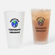 World's Best Corporate Librarian Drinking Glass