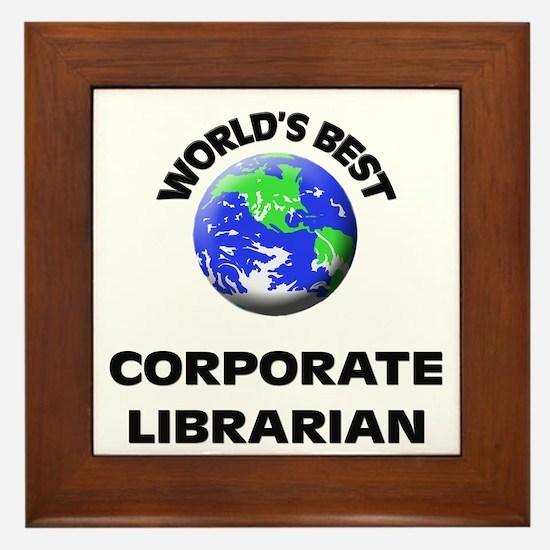 World's Best Corporate Librarian Framed Tile