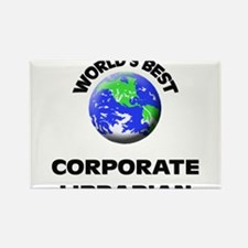 World's Best Corporate Librarian Rectangle Magnet